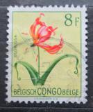 Poštovní známka Belgické Kongo 1952 Květiny, Gloriosa simplex Mi# 312