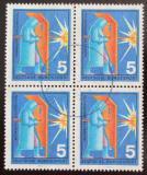 Poštovní známky Německo 1970 Svářeč čtyřblok Mi# 629