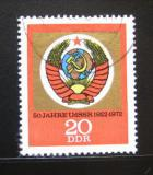 Poštovní známka DDR 1972 Výročí vzniku SSSR Mi# 1813