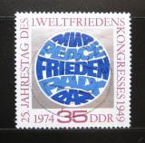 Poštovní známka DDR 1974 První mírový kongres Mi# 1946
