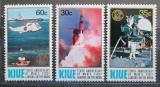 Poštovní známky Niue 1979 Přistání na Měsíci, 10. výročí Mi# 260-62