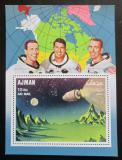 Poštovní známka Adžmán 1968 První let na Měsíc Mi# Block 67