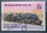 Poštovní známka Rhodésie, Zimbabwe 1969 Parní lokomotiva Mi# 82 Kat 4€