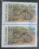 Poštovní známky Moldavsko 1993 Užovka obojková pár Mi# 54