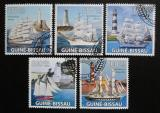 Poštovní známky Guinea-Bissau 2009 Lodě a majáky Mi# 4384-88 Kat 14€