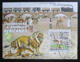 Poštovní známka Svatý Tomáš 2009 Fauna a vlak Mi# Block 731 Kat 10€
