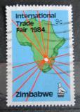 Poštovní známka Zimbabwe 1984 Mapa Afriky Mi# 286