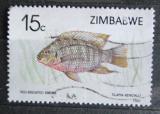 Poštovní známka Zimbabwe 1989 Tilapia rendalli Mi# 406
