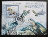 Poštovní známka Komory 2009 Želvy Mi# Block 512 Kat 15€