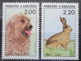 Poštovní známky Andorra Fr. 1988 Fauna Mi# 394-95