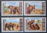 Poštovní známky Mongolsko 1998 Medvěd hnědý Mi# 2777-80 Kat 7€
