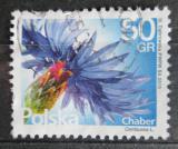 Poštovní známka Polsko 2016 Chrpa polní Mi# 4816