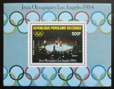 Poštovní známka Kongo 1984 LOH Los Angeles, box Mi# Block 35