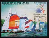 Poštovní známka Mali 1984 LOH Los Angeles, jachting Mi# Block 24
