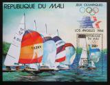 Poštovní známka Mali 1984 LOH Los Angeles, jachting přetisk Mi# Block 25