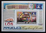 Poštovní známka Lesotho 1984 LOH Los Angeles Mi# Block 21