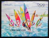 Poštovní známka Kongo 1983 LOH Los Angeles, jachting Mi# Block 33