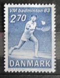 Poštovní známka Dánsko 1983 MS v badmintonu Mi# 770
