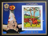 Poštovní známka Adžmán 1970 Umění, Hokusai neperf. Mi# Block 196 B Kat 13€