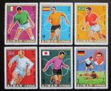 Poštovní známky Adžmán 1970 MS ve fotbale přetisk Mi# 586-91 Kat 7€