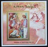 Poštovní známka Adžmán 1971 Umění, Edgar Degas neperf. Mi# Block 276 B Kat 9€