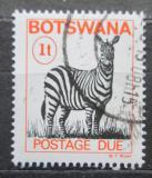 Poštovní známka Botswana 1989 Zebra stepní, doplatní Mi# 18