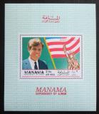 Poštovní známka Manáma 1969 Robert F. Kennedy Mi# Block C 35
