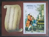 Poštovní známka Manáma 1969 Mozart s rodinou Mi# Block C 34 A