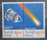 Poštovní známky Norfolk 1986 Halleyova kometa Mi# 381-82