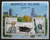Poštovní známky Norfolk 1986 Výstava AMERIPEX Mi# Block 10