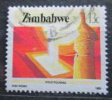 Poštovní známka Zimbabwe 1985 Odlévání zlata Mi# 316