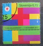 Poštovní známka Slovinsko 2011 Červený kříž, daňová Mi# 65
