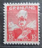Poštovní známka Grónsko 1938 Král Christian X. Mi# 5