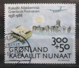 Poštovní známka Grónsko 1988 Grónská pošta, 50. výročí Mi# 185
