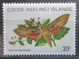 Poštovní známka Kokosové ostrovy 1982 Hippotion boerhaviae Mi# 95