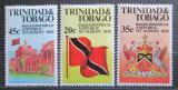 Poštovní známky Trinidad a Tobago 1977 Vyhlášení republiky, 1. výročí Mi# 355-57