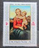 Poštovní známka Dominika 1968 Vánoce, umění, Raffael Mi# 237