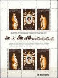 Poštovní známky Ascension 1978 Korunovace Alžběty II., 25. výročí Mi# 229-31