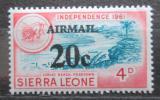 Poštovní známka Sierra Leone 1964 Nezávislost přetisk Mi# 296
