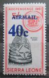 Poštovní známka Sierra Leone 1964 Maska přetisk Mi# 298