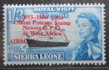 Poštovní známka Sierra Leone 1963 Jachta Britannia přetisk Mi# 246