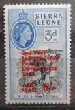 Poštovní známka Sierra Leone 1963 Walbai přetisk Mi# 233