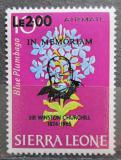 Poštovní známka Sierra Leone 1965 Květiny přetisk Mi# 327 Kat 14€