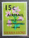 Poštovní známka Sierra Leone 1966 Květiny přetisk Mi# 360