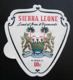 Poštovní známka Sierra Leone 1967 Státní znak Mi# 401