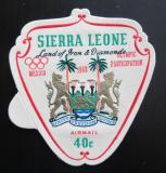 Poštovní známka Sierra Leone 1968 Státní znak přetisk Mi# 436