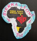 Poštovní známka Sierra Leone 1968 Mapa Afriky Mi# 420 V Kat 4.50€
