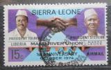 Poštovní známka Sierra Leone 1975 Unie Mano-River, 1. výročí Mi# 565