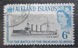 Poštovní známka Falklandské ostrovy 1964 Křižník Kent Mi# 146