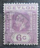 Poštovní známka Cejlon 1921 Král Jiří V. Mi# 190